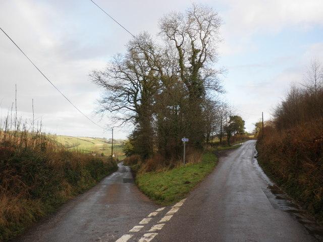 Road junction, near Sparkhayne