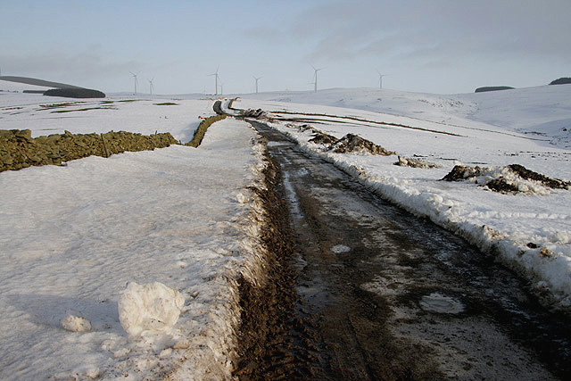 The access road to Toddleburn Wind Farm