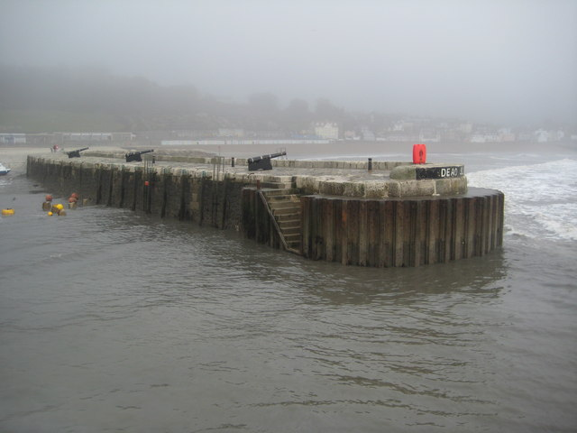 Harbour wall, Lyme Regis