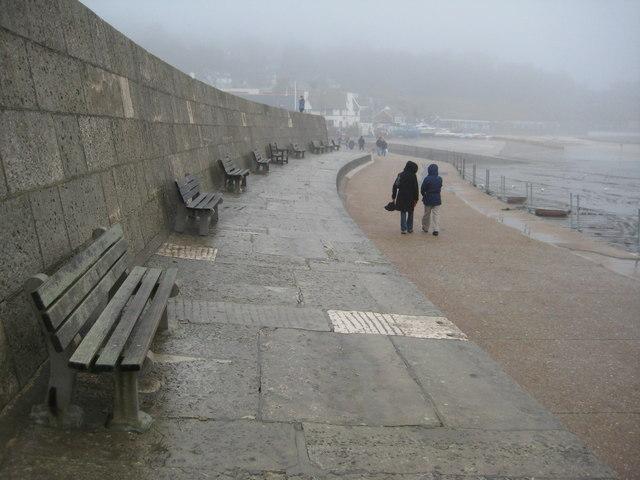 The Cobb Harbour Wall, Lyme Regis
