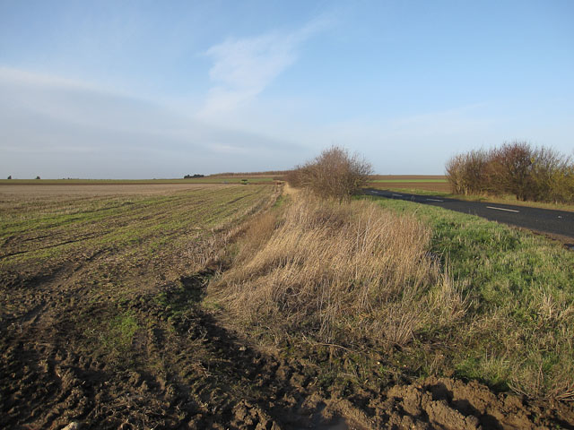 Stubble field by the B1104