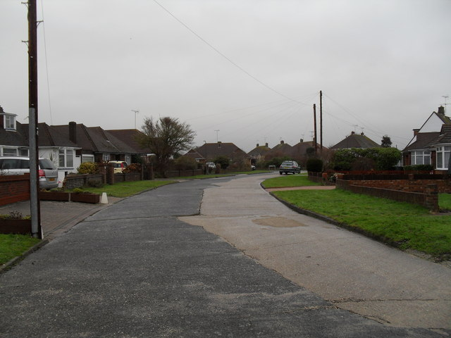 A range of road surfacing in The Crescent