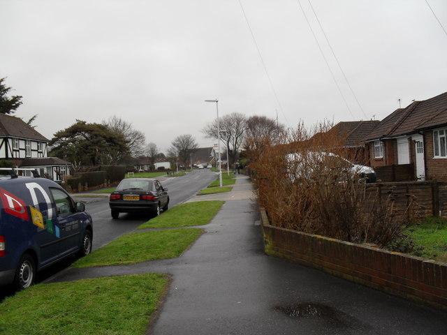 Pavement in Holmes Lane