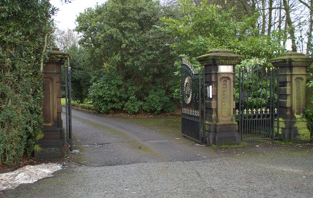 Entrance gates to Loyola Hall Retreat House