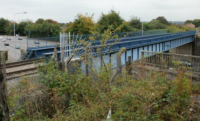 Railway bridge across Western Avenue, Cardiff