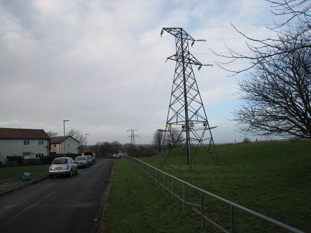 Electricity Pylons near Eden Lane