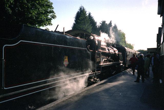 Steam locomotive at Alresford