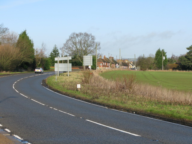 The A20 approaching Barrowhill