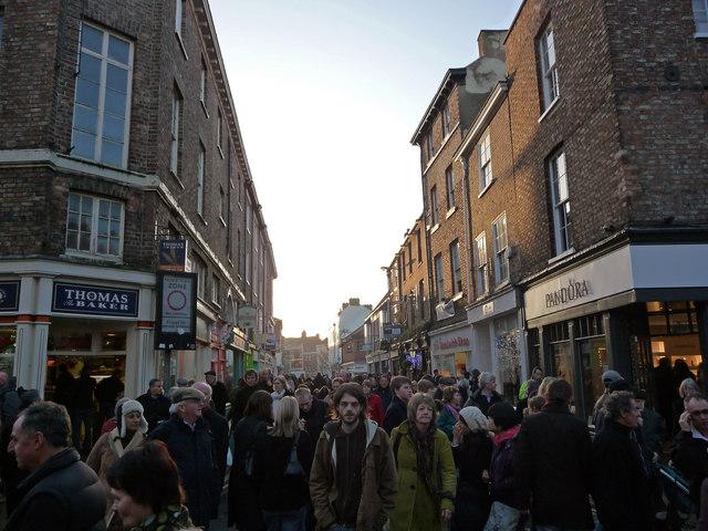 Christmas shoppers on Church Street