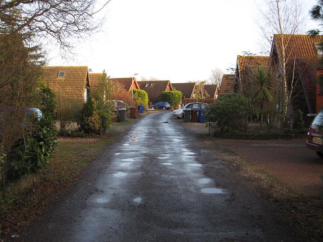 Road in Isleham Marina