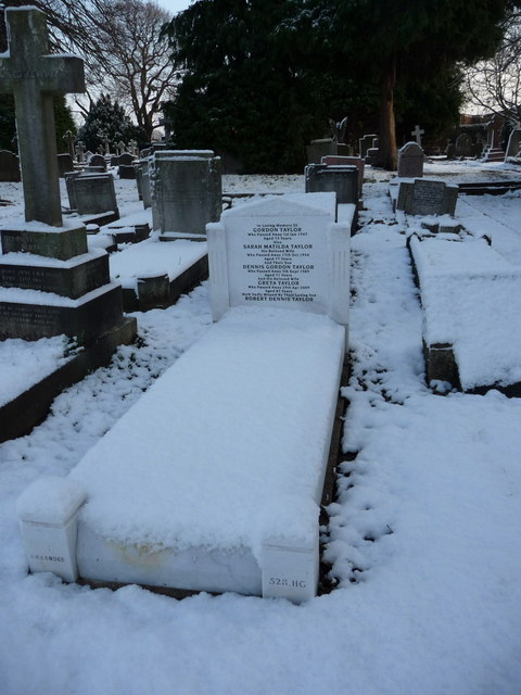 Taylor Family Grave, Waterfall Road Cemetery, London N14