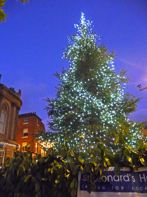 Christmas tree in St Helen's Square