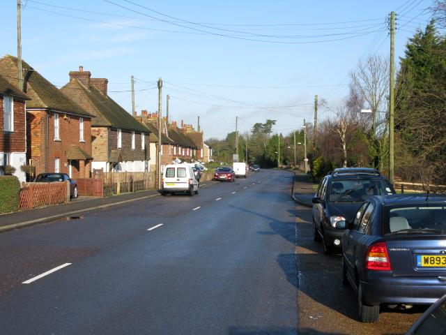 View along the A20 through Barrowhill