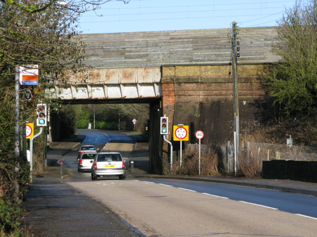 Railway and motorway bridges, between Barrowhill and Sellindge