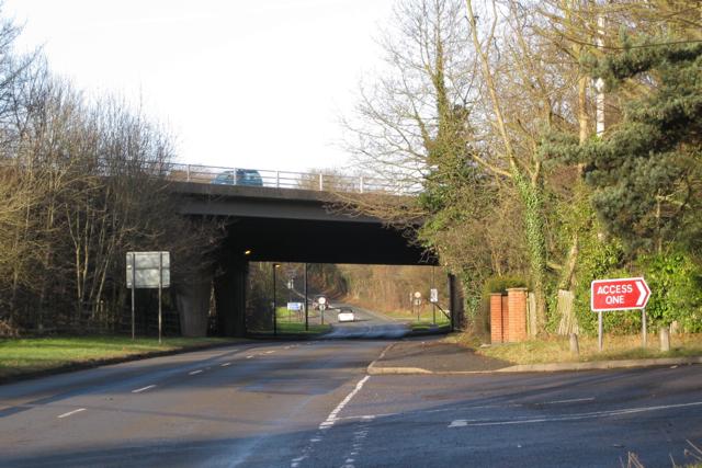 A46 bridges St Martin's Road B4113 at Finham