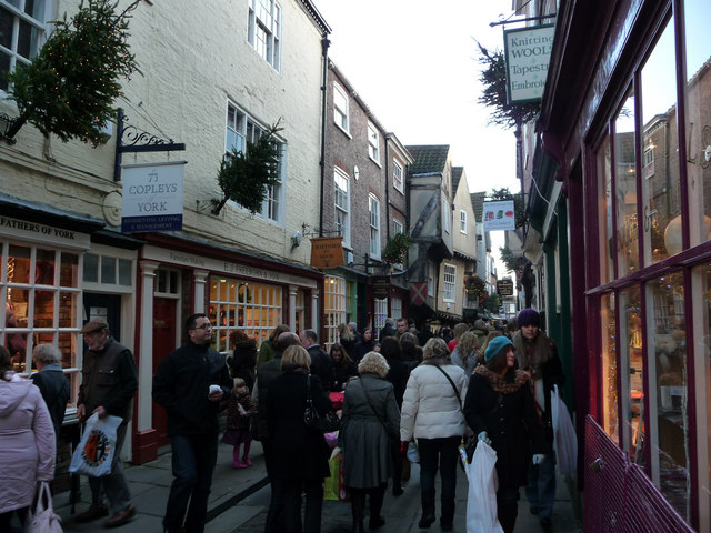 Christmas shoppers at the Shambles