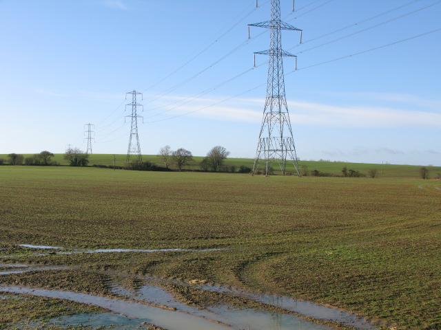 Pylons across Bested Hill