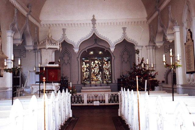 Interior of St. John's, Shobdon, Herefordshire