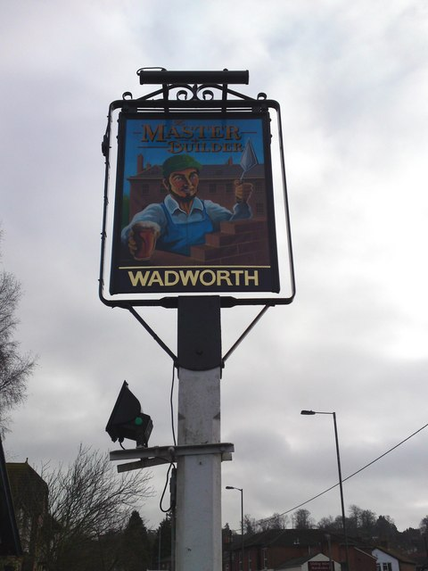 Wadworth Master Builder Public House sign