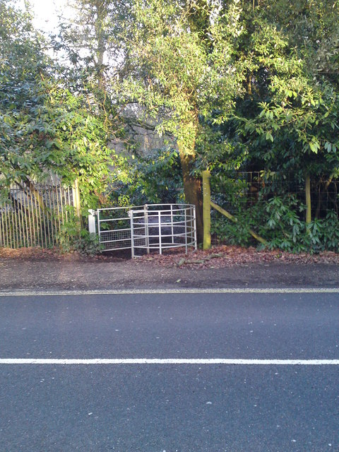 Kissing Gate Exiting Telegraph Woods On to A27 Moorhill Road