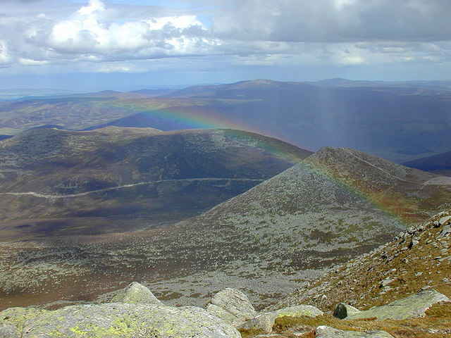 Rainbow north of Lochnagar