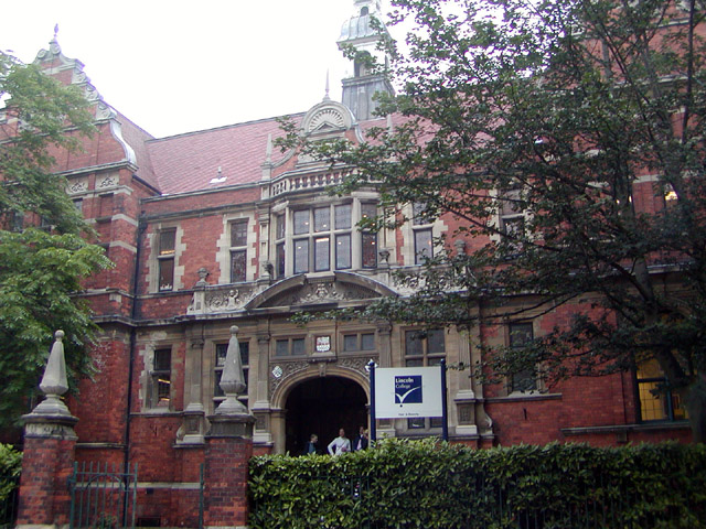 Main entrance to what was the City School, Lincoln