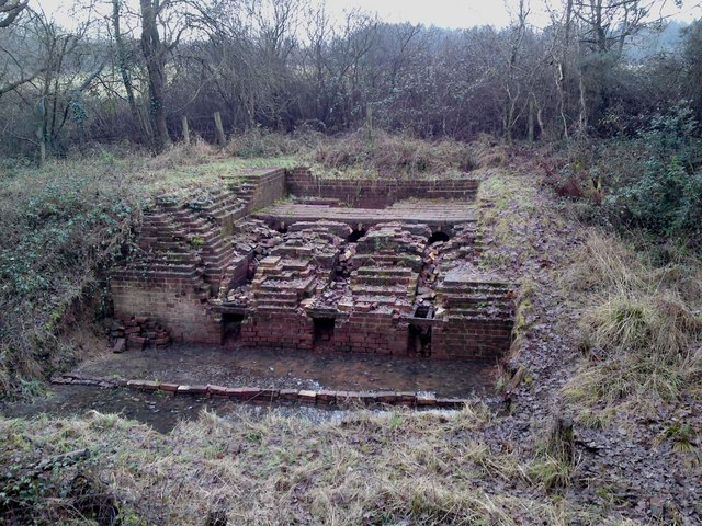 Remains of brick kilns in Itchen Valley Park