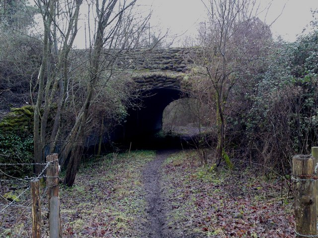 The Itchen Way footpath passes under the Eastleigh - Fareham railway line