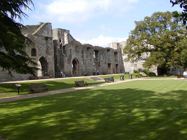 Interior walls of Newark Castle
