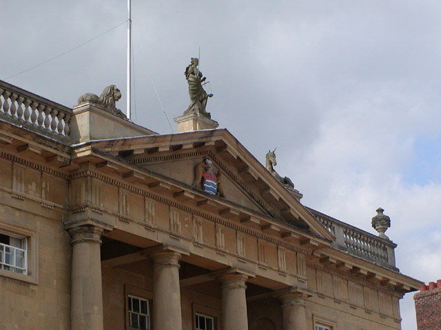 Detail of the top of the Butter Market (Town Hall)