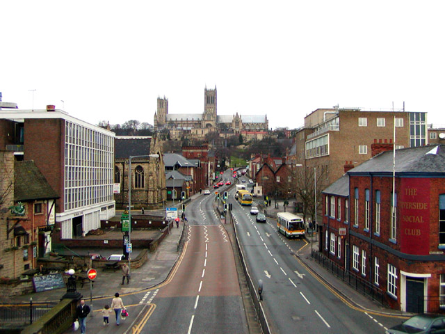 Broadgate and Lincoln Cathedral
