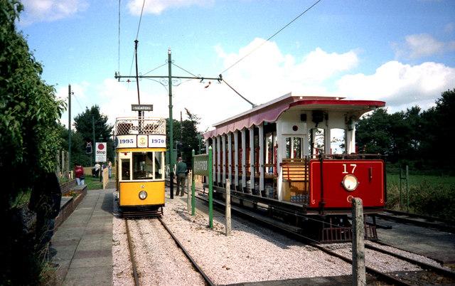 Trams at Colyford, Devon
