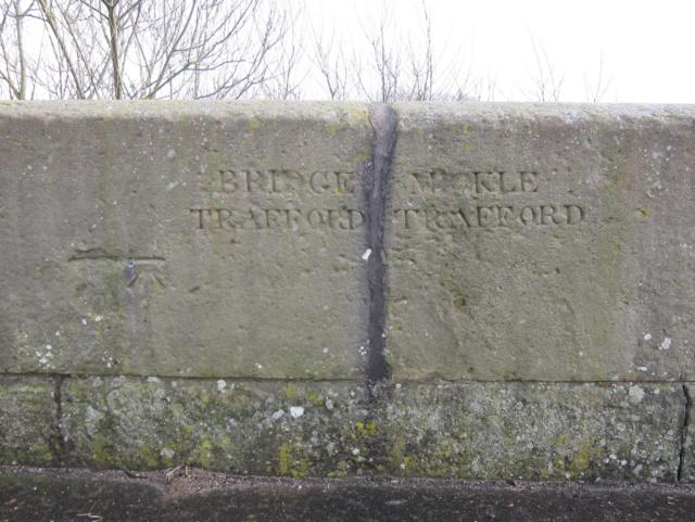 Trafford Bridge parapet and parish boundary