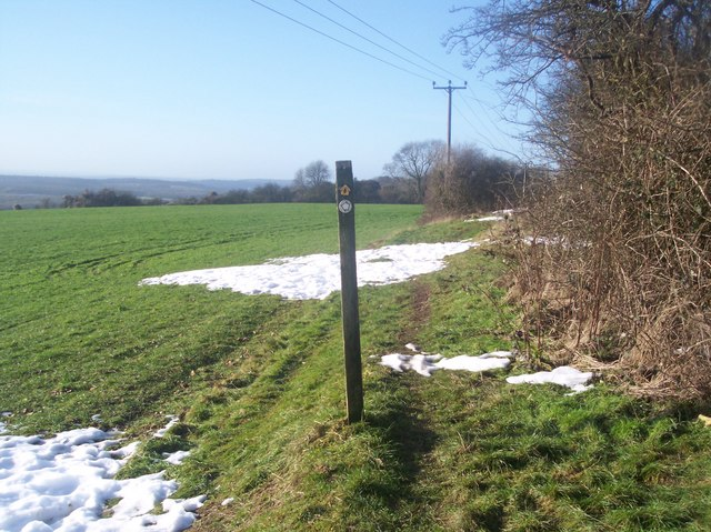 Footpath junction on the North Downs Way