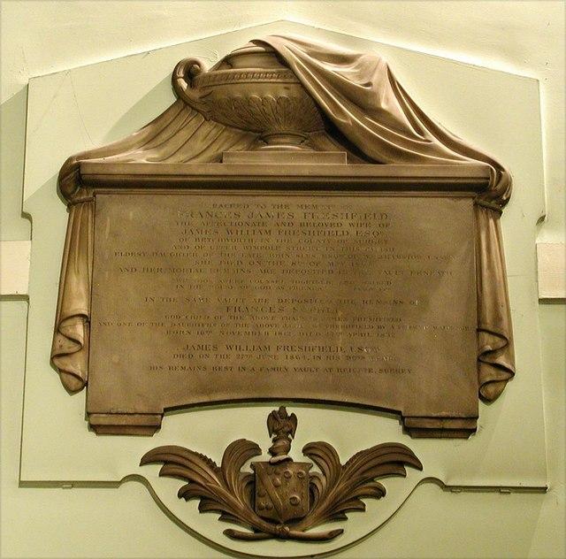 Holy Trinity, Great Portland Street, London W1 - Wall monument