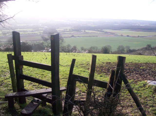 Stile on the North Downs Way