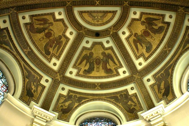Holy Trinity, Great Portland Street, London W1 - Apse roof