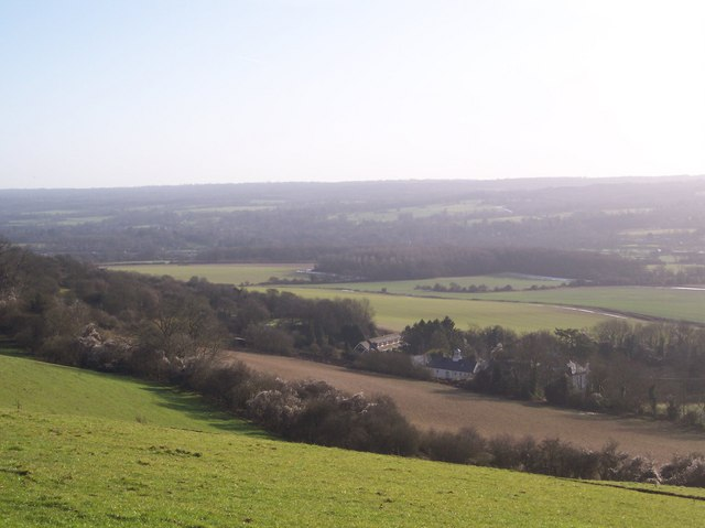 View from the North Downs Way - looking south easterly
