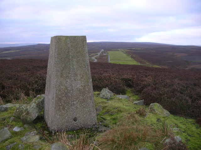 Trigpoint on Whit Fell, Yorkshire