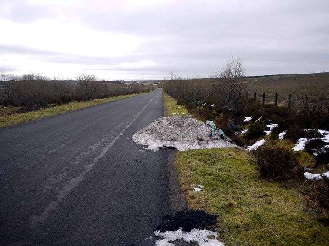 Reminder of 'The Big Freeze' near Coaburn