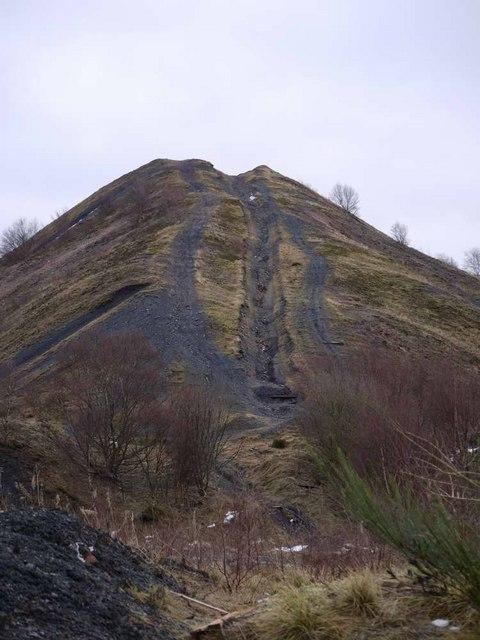 Water erosion on Glaikhead bing