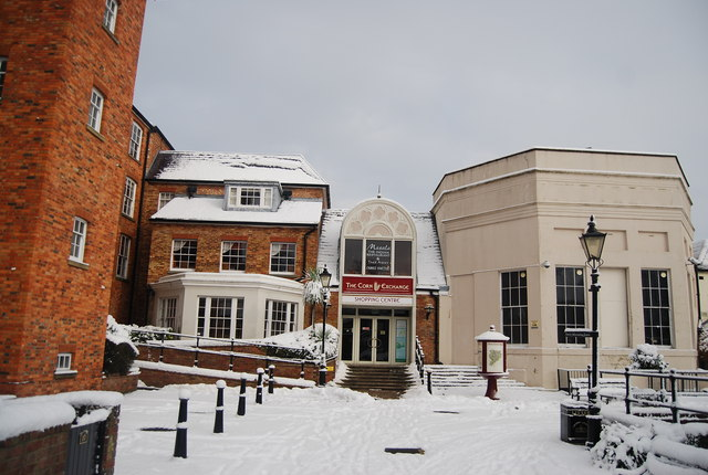 Back entrance to the Corn Exchange