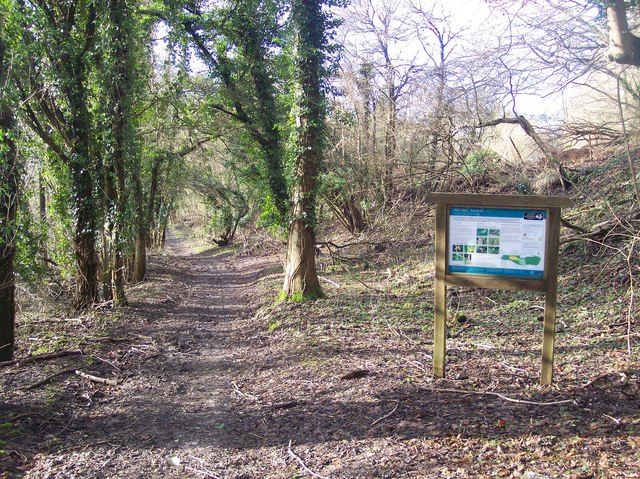 Footpath and Information Board in Hill Park