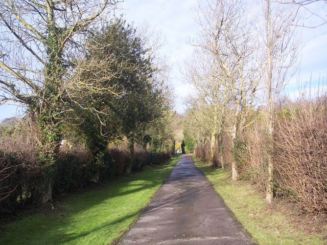 Bridleway in Tatsfield Court Farm