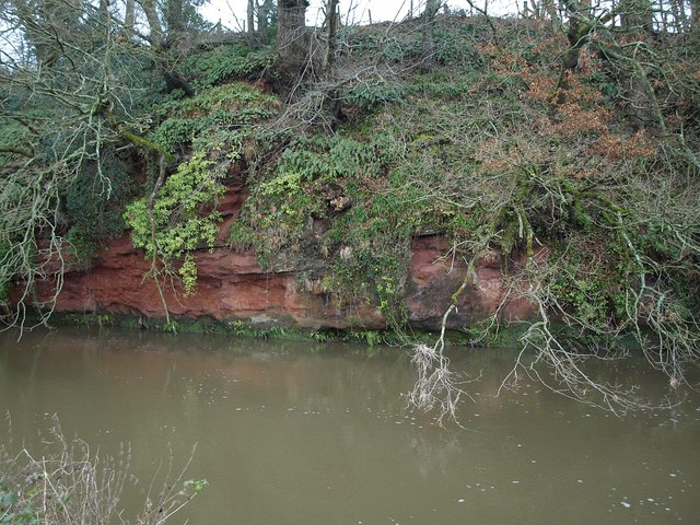 River cliff by the Otter