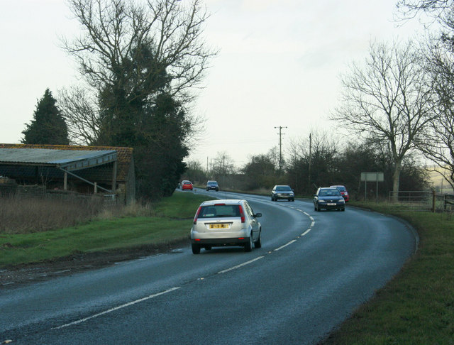 2010 : A350 heading north passing Halfway Farm