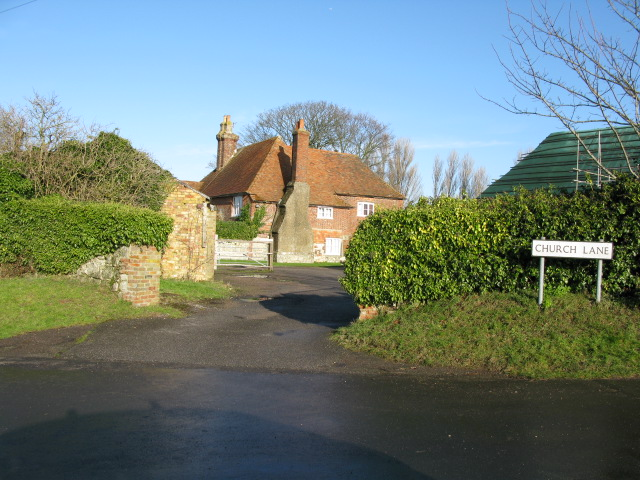 Ruffin's Hill Farm on corner of Church Lane