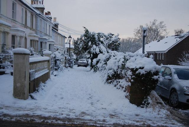 Brunswick Terrace in the snow