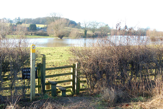 Footpath and floodwater, Marton