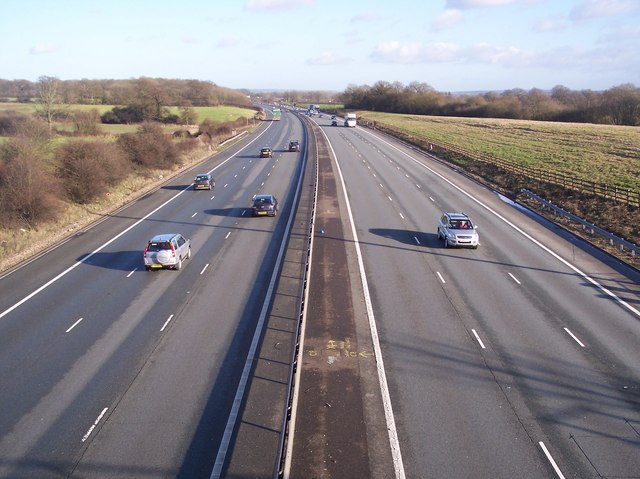 The M25 heading east towards Sevenoaks